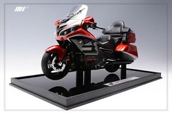 1/8 Motorhelix Honda Goldwing Gl 1800 In Red Diecast All Opening Parts