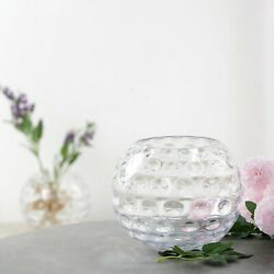 4 Pcs 8 Tall Clear Round Glass Hobnail Vases Wedding Party Events Decorations