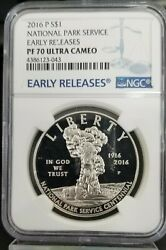 2016-p 1 National Parks Service Silver Commemorative Ngc Pf 70 Early Release