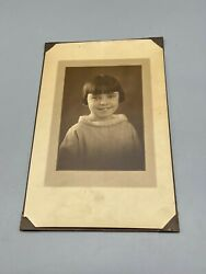 Vintage Photo Late 1800and039s To Early 1900s Girl Matted 11x7 Read
