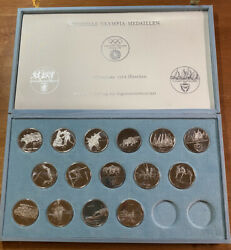 1972 Munich Olympic Coin Set - Qty 15 Silver Coins Germany Rare Set Medallions
