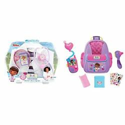 Just Play Doc Mcstuffins Playset And 92336 First Responders Backpack Set