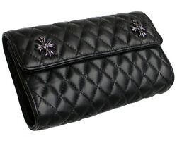 Chrome Hearts Clutch Bag Quilted Snap Ch Plus Quilt