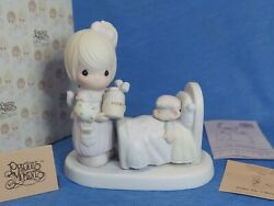 Vtg Precious Moments Make Me A Blessing 100102 1986 Mouse Bear Sick In Bed