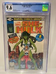 Savage She-hulk 1 Cgc 9.6 Nm White Pages Key 1st Appearance And Origin 1980 Rare
