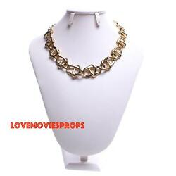 Jamie Lee Curtis Knives Out Screen Worn Necklace Earrings Prop Costume Halloween