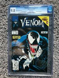 Venom Lethal Protector #1 Black cover printing error CGC 9.8 white pages