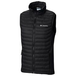 Columbia Powder Pass Vest Menand039s Medium Stretch Black Insulated New W/out Tags