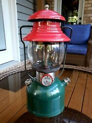 Vintage Coleman 200 Christmas 🎄 Lantern - Made In Usa 4/51 - Brass Fount