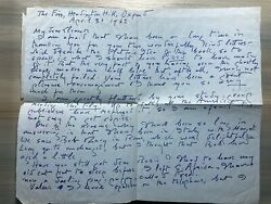 1962 Hope Mirrlees Signed Autograph Letter Eleanor Holmes Hinkley + Fly In Amber