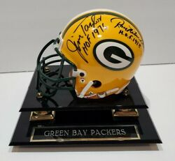 Signed Nitschke Taylor And Hornung Mini W/ 3 Hof Inscriptions - Green Bay Packers