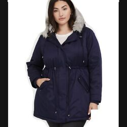 Torrid 6x Navy Blue Parka Warm Rated Brand New With Tags