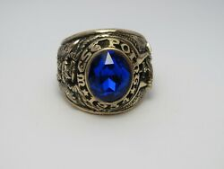 @ Solid 10k Gold , Usma Ring , Military Academy West Point Ring 1954 , Size 10