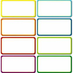 40 Pieces Magnetic Dry Erase Labels Name Plate Tags Flexible Magnetic Label