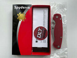 Spyderco Paramilitary 2 M390 Red G-10 Dlt Exclusive C81gprd2 Discontinued New