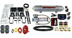 Air Helper Spring Over Load Kit W/black Gauge And Tank For 2005-10 Ford F250 4x4