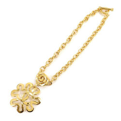 Clover Coco Mark Necklace Gold 95p Vintage Accessory 90120350 1451