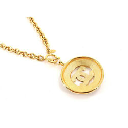 Coco Mark Long Necklace Gold Vintage Accessory 90127150 1472