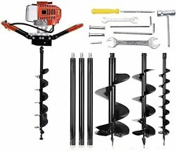 72cc Auger Post Hole Digger2-stroke 4hp Gas Powered Earth Digging Engine With 3