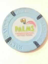 Palms Hotel Casino Las Vegas Nevada 1.00 Gaming Chip Great For Any Collection