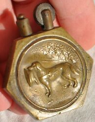 Rare Wwi Military Red Cross Rescue War Dog Brass Trench Cigarette Lighter Ww1