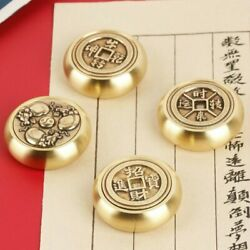 4.4cm Brass Paperweights Painting Calligraphy Portable Rotating Paper Weights