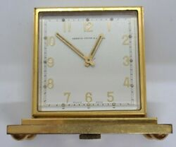 Antique Shreve,crump And Low Art Deco Double Faced Dial Partner's Swiss Desk Clock