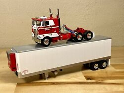 Dcp 1/64 Pirkle Peterbilt 352 Cab Over And 40and039 Vintage Reefer Trailer Farm Toy