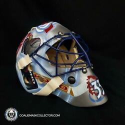 Patrick Roy Unsigned Goalie Mask The Gear Collection Koho Pad Set Colorado