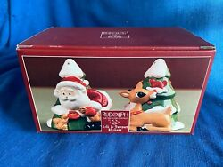 Lenox Rudolph Red Nosed Reindeer Salt And Pepper Shakers Christmas New Rankin Bass