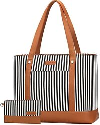 Laptop Tote Bag for Women Water Resistant Canvas Womens Work Tote Bag Large $28.00