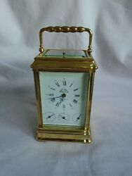 Vintage L'epee Gorge Case Four Dial Repeater Carriage Clock + Key In Gwo