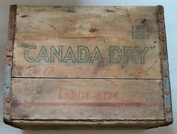 Vintage Canada Dry The Champagne Of Ginger Ale Large Bottle Wood Crate