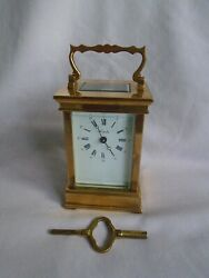 L'epee Timepiece Carriage Clock In Gwo With Key Just Refurbished And Serviced