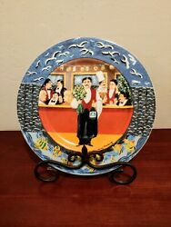 Eschenbach The Bistro Collection Symphony In Blue Dinner Plate Guy Buffet