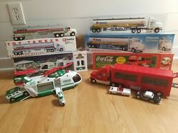 Truck Lot Chevron 1998 Toy Tanker / Hess Helicopter / 2001 Coca-cola Carrier