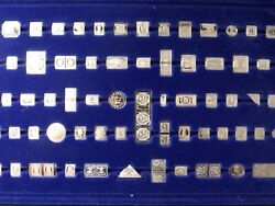 Vintage Franklin Mint Silver 100 Greatest Stamps Of The World Complete Setcf