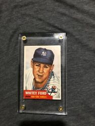 1953 Topps Whitey Ford 207 Baseball Card Excellent