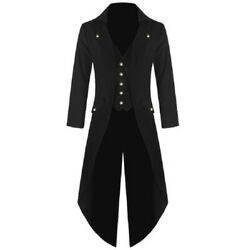 Costume Halloween Victorian Menand039s Tailcoat Steampunk Tailcoat Jacket Gothic Coat