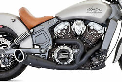 Freedom Exhaust Scout Turnout 2-into-1 Pitch Black Indian Scout In00083