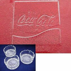 Coca Cola Glass Stacked Small Bowls Set Of Ashtray Tableware With Piece Retro