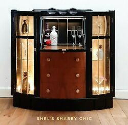 Vintage Drinks Cabinet / Art Deco Cocktail Bar - Sold - Commissions Welcome