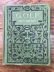 """Antique Golf Book By Horace Hutchinson 1908 179 Pages 5 3/4""""x4 1/2"""""""