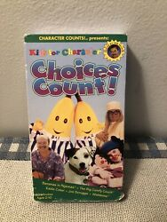 Kids for Character: Choices Count VHS 1997 Bananas In Pajamas RARE OOP $13.00