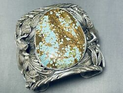 238 Gram Whopping Native American 8 Turquoise Sterling Silver Bracelet