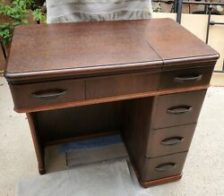 Vintage White 1904's Rotary Series 77 Sewing Machine / Cabinet Refinished Works