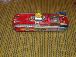 Vtg Astronef Electrique Space Ship Me 102 Battery Op Tin Toy - For Parts Repair