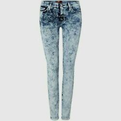 New 7 For All Mankind The Skinny Marble Ice Jeans 26 Uk 8 Womens Ladies Stretch