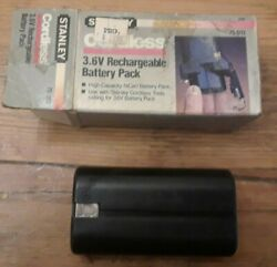 Stanley 3.6v Nicad Tool Battery, 75-012, Black, New Old Stock
