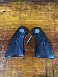 Colt Firearms Factory Official Police / Officers Model Checkered Wood Grips. 257